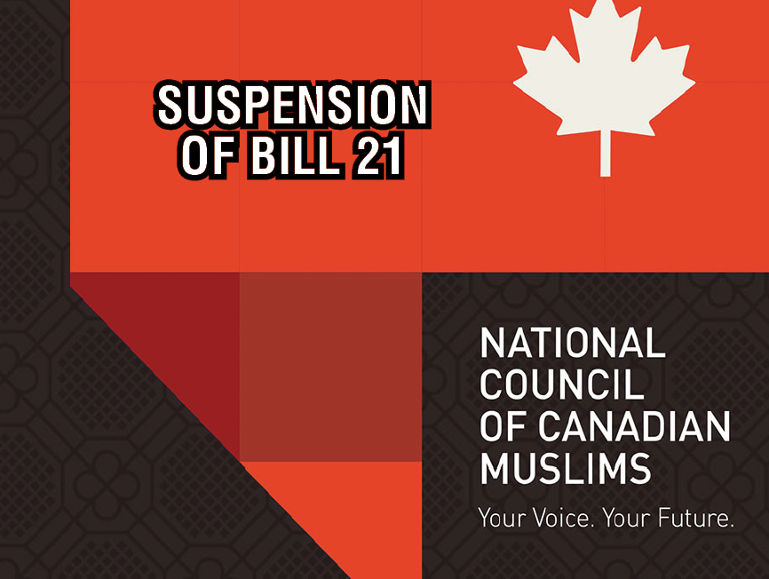 CIVIL LIBERTIES GROUPS SEEKING LEAVE AT THE SUPREME COURT OF CANADA FOR THE URGENT SUSPENSION OF BILL 21