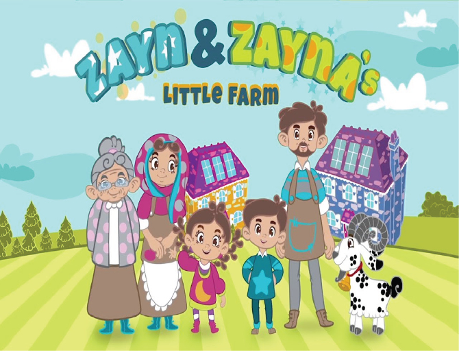 Zayn & Zayna's Little Farm - a new culturally inclusive animated series