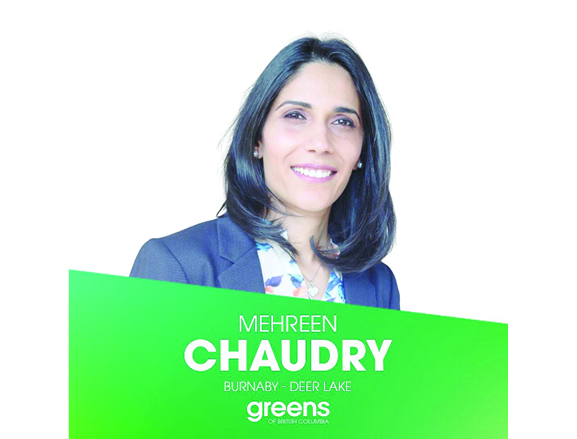 BC Elections Canadidate Profile: Mehreen Chaudry