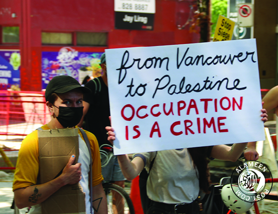 Vancouver Join Protesters worldwide against the Apartheid regime of Israel