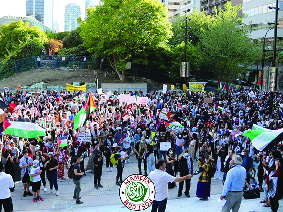 Vancouver Stands in solidarity Palestine