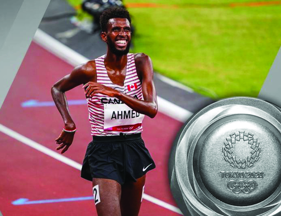 Ahmed's smooth running and final kick lead to Tokyo 2020 silver