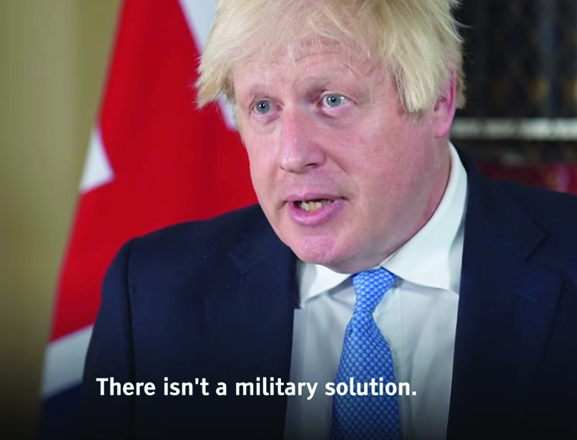 """UK PM Boris Johnson: Reiterates Imran Khans message, """"No Military Solution in Afghanistan"""""""